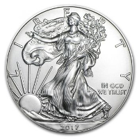 American Eagle in SILBER
