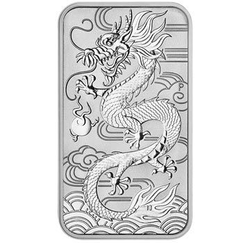 1 Unze Silber Münzbarren Australien 2018 - Dragon Rectangle