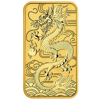 1 Unze Gold Münzbarren Australien 2018 - Dragon Rectangle