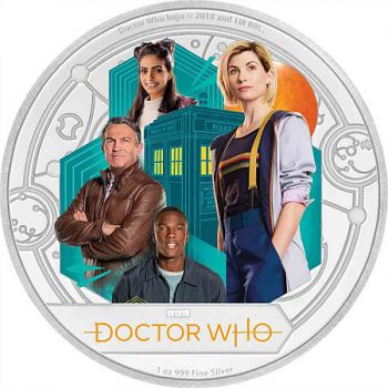 2 Dollar | 1 Unze Silbermünze Niue 2018 in Polierte Platte | BBC's Doctor Who - Series 11 of the new era of Doctor Who