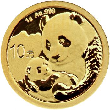 1 Gramm Goldmünze China 2019 - Panda