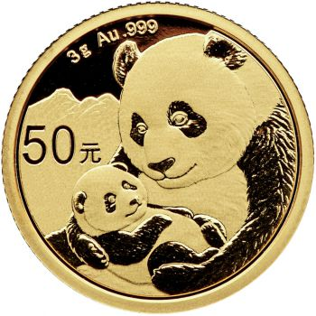 3 Gramm Goldmünze China 2019 - Panda
