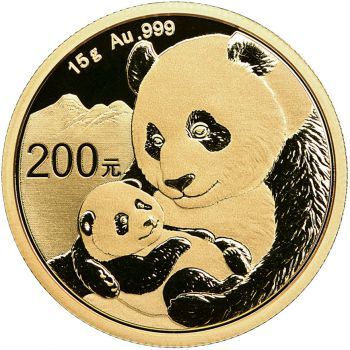 15 Gramm Goldmünze China 2019 - Panda