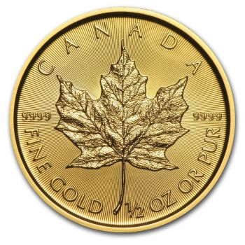 1/2 Unze Goldmünze Kanada 2019 - Maple Leaf