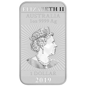 1 Unze Silber Münzbarren Australien 2019 - Dragon Rectangle