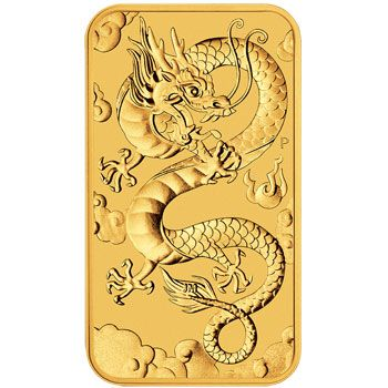1 Unze Gold Münzbarren Australien 2019 - Dragon Rectangle
