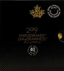 25 x 1 Gramm Goldmünze Kanada 2019 - Maple Leaf | Maplegram