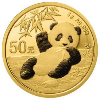 3 Gramm Goldmünze China 2020 - Panda