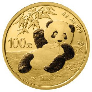 8 Gramm Goldmünze China 2020 - Panda