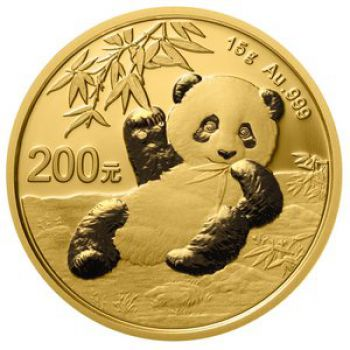 15 Gramm Goldmünze China 2020 - Panda