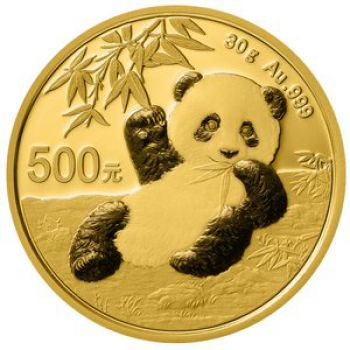30 Gramm Goldmünze China 2020 - Panda
