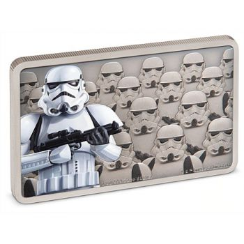 1 Unze Silbermünze Niue 2020 in Antique Finish | Star Wars Guards of the Empire Serie - Motiv: Stormtrooper™