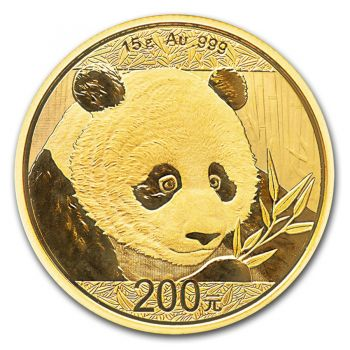 15 Gramm Goldmünze China 2018 - Panda