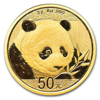 3 Gramm Goldmünze China 2018 - Panda