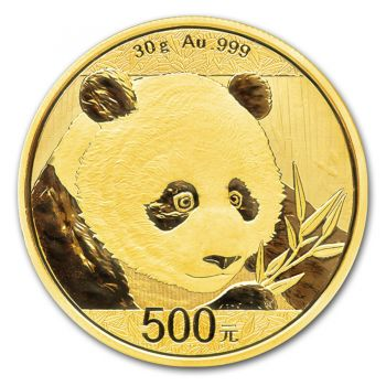 30 Gramm Goldmünze China 2018 - Panda