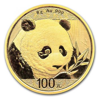 8 Gramm Goldmünze China 2018 - Panda