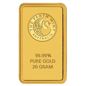 20 Gramm Goldbarren Perth Mint