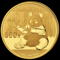 30 Gramm Goldmünze China 2017 - Panda