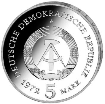 5 Mark DDR Gedenkmünze in Stempelglanz