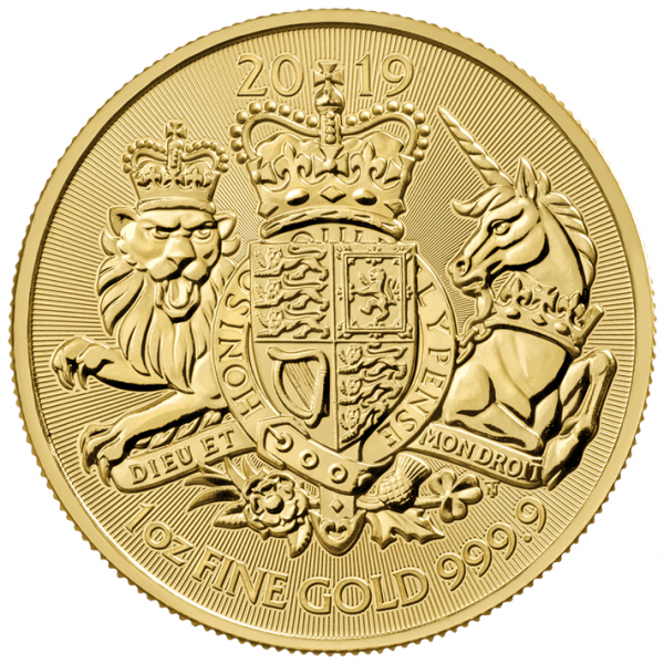 1 Unze Goldmünze Großbritannien 2019 - The Royal Arms