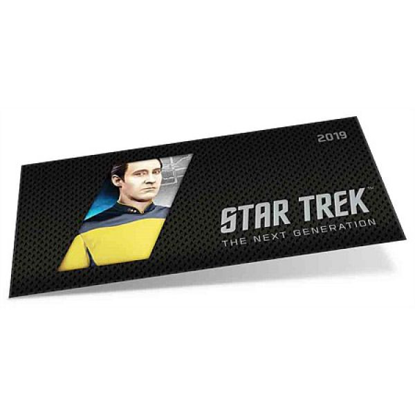 1 Dollar Silberbanknote Niue 2019 | Star Trek | Serie: THE NEXT GENERATION CHARACTERS - Motiv: Data | 5. Ausgabe von 6