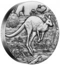 2 Unze Silbermünze Australien 2016 High Relief in Antique Finish - Motiv: KÄNGURU| Nur 3.000 Exemplare!
