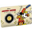 0,5 Gramm Goldmünze Niue 2016 PP | The Band Concert - Mickey Mouse  | 1. Ausgabe