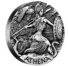2 Unze Silbermünze Tuvalu 2015 High Relief in Antique Finish - Motiv: ATHENA | Nur 2.000 Exemplare!