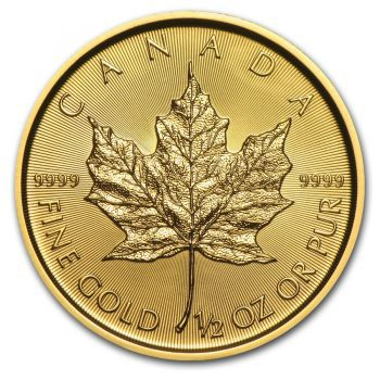 1/2 Unze Goldmünze Kanada - Maple Leaf