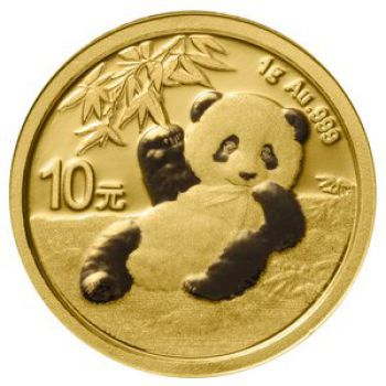 1 Gramm Goldmünze China 2020 - Panda