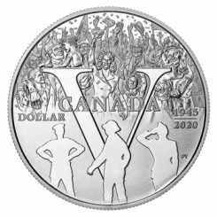 KANADA 1 Dollar Silbermünze 2020 in PP | Motiv: 75. Jahrestag des V-E-Tages - 75th Anniversary of V-E Day