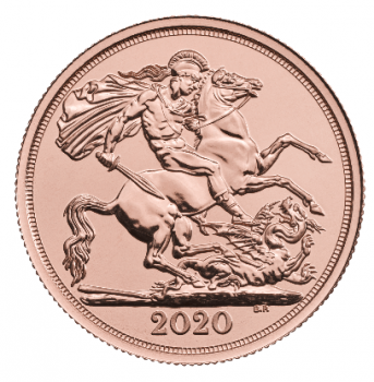 Großbritannien 2 Pfund Sovereign Goldmünze 2020 - The Double Sovereign