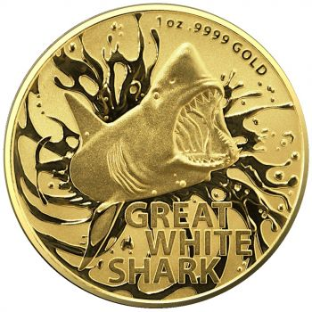 1 Unze Goldmünze Australien 2021 | Australias Most Dangerous - Motiv: White Shark