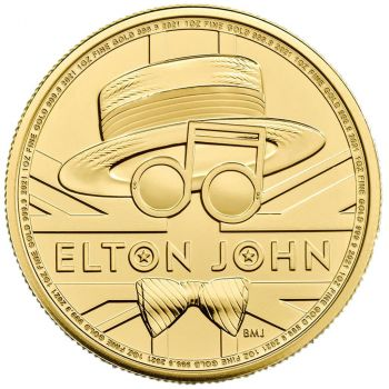 1 Unze Goldmünze Großbritannien 2021 | Serie: Great Britain Music Legends - Motiv: Elton John