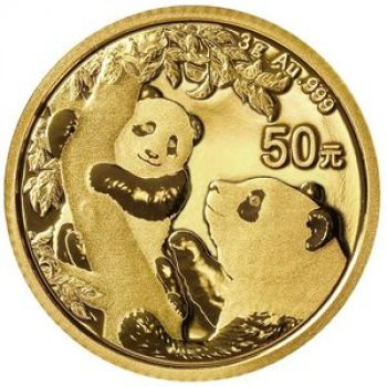 3 Gramm Goldmünze China 2021 - Panda