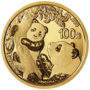 8 Gramm Goldmünze China 2021 - Panda