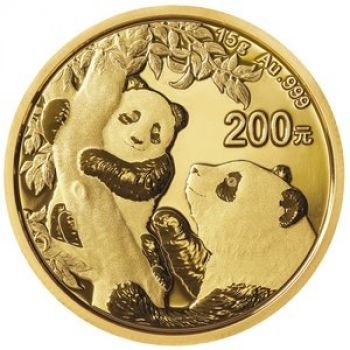 15 Gramm Goldmünze China 2021 - Panda