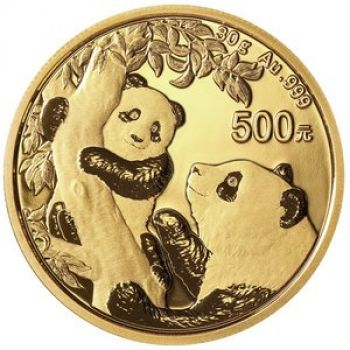 30 Gramm Goldmünze China 2021 - Panda