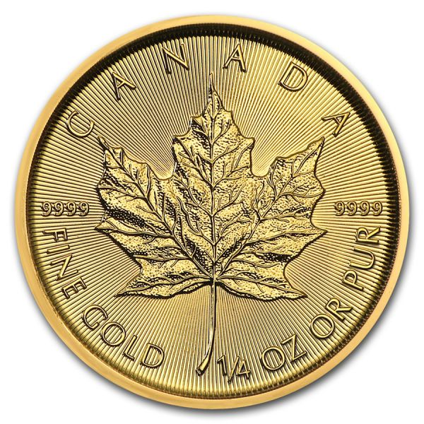 1/4 Unze Goldmünze Kanada 2020 - Maple Leaf